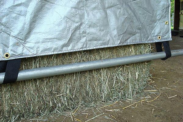 poly hay tarp