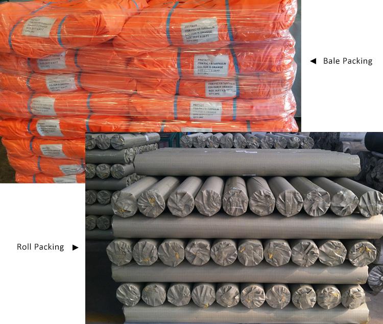 pvc tarp packing