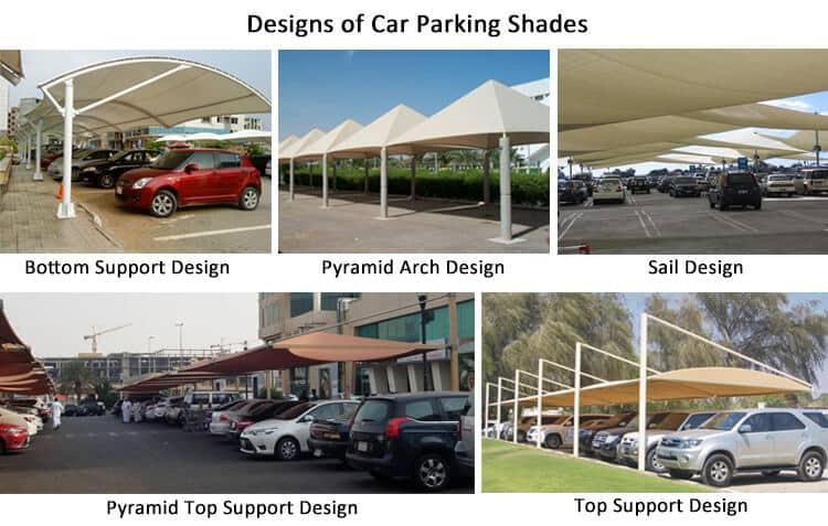 different type car parking net