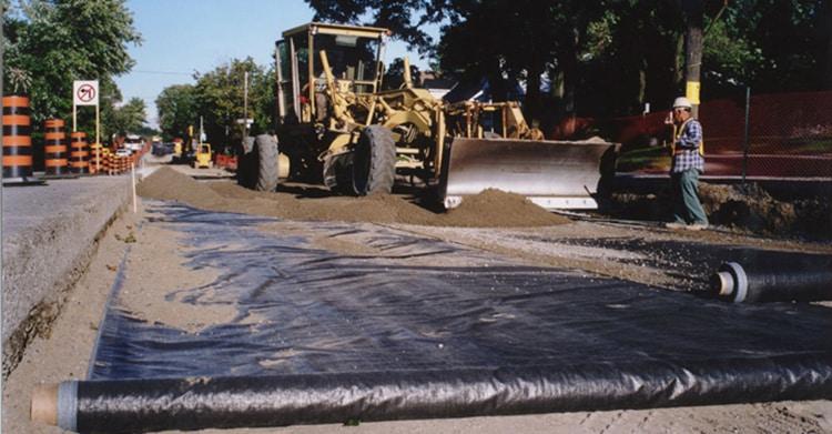 Geotex road underlayment