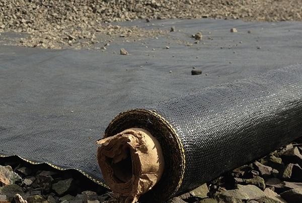 black woven geotextile